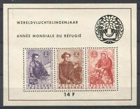 Belgio 1960 Mi. Bl. 26 Foglietto 100% Nuovo ** Anno Mondiale del Rifugiato