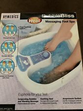 HoMedics Bubble Bliss Foot Spa With Massage And Heat Feature - In Box