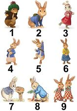 Peter Rabbit Beatrix Characters Large Sticky White Paper Stickers Labels New