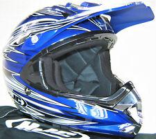 motocross mx helmet 2xl xxl hjc cl-x5 arena flyin kolors blue black white silver
