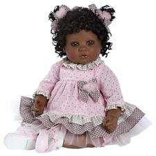 African American AA Ethnic Realistic Lifelike Toddler Doll Reborn Black Hair