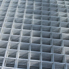 "8x Welded Wire Mesh Panels 1.2x2.4m Galvanised 4x8ft Steel Sheet Metal 2"" Holes"