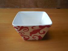 "Ciroa RED Set of 4 Individual Square Appetizer Bowls 4"""