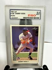 1990 Leaf Sammy Sosa ROOKIE RC #220 PRO 9.5 MINT+
