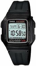 casio herren digital resin armband kalender uhr, schwarz