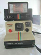 Polaroid Supercolor 1000 Land Camera +  #2351 Q-Light Electric Flash -JAPAN-