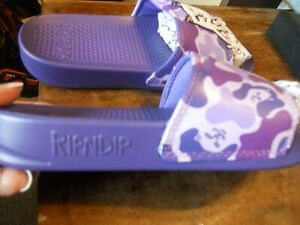 Rip N Dip Lord Nermal Slides purple Camo womens 5.5~~ kids size 4  $40 NEW