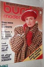 BURDA MODEN 10 OTTOBRE 1987 CON DUE CARTAMODELLI TESTO IN TEDESCO MODA FEMMINILE