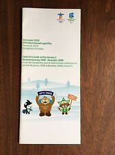 Vancouver 2010 Officially Licensed Lapel Pins Collectors Guide Booklet