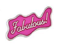Fabulous Pink Badge Pin Enamel Gay LGBT Rainbow