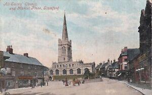 All saints Church Market Place Stamford Lincolnshire 1906 Valentine's  postcard