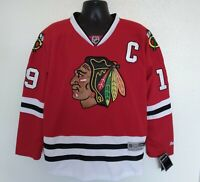 Reebok Center Ice Mens L NHL Hockey Jersey Jonathan Toews Chicago Blackhawks NWT