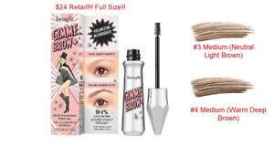 NIB Benefit  Gimme Brow+ Tinted Volumizing Eyebrow Gel You Pick Full Size!