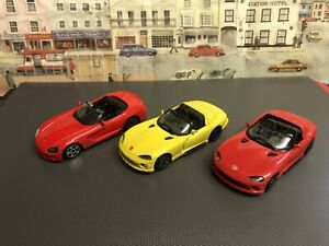 Burago 1:43 scale Dodge Viper die cast models