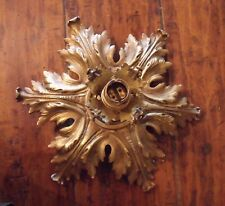 Antique French Ceiling Light fitting gilt brass