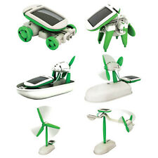 Creative 6 IN 1 Educational Learning Toy DIY Solar Robot Power Kits Children Toy