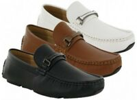 MENS BOYS CAUSAL DESIGNER ITALIAN BOAT SLIP ON LOAFERS MOCCASIM SHOES SIZE 6-11