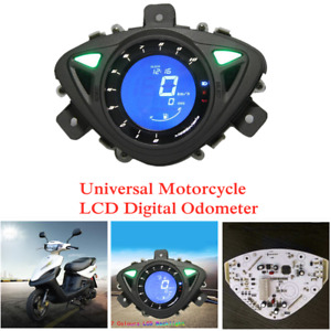 12V Universal Motorcycle LCD Digital Odometer with Left and Right Turn Signals