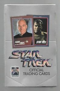 1991 STAR TREK 25TH ANNIVERSARY OFFICIAL TRADING CARDS BOX SERIES 1 FREE SHIP