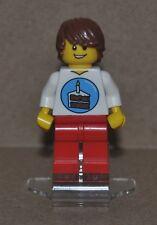 LEGO Minifigure Mini Figure Minifig Happy Birthday Cake on Shirt Max