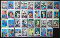 1989 Topps Chicago Cubs Team Set of 35 Baseball Cards