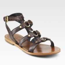 e9c255b2e95c COLE HAAN Deandra Brown Leather Buckle Closure Gladiator Sandal Size 7
