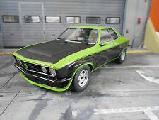OPEL Manta A TE 2800 green grün schwarz Black 1975 V6 BOS Resin 1:18