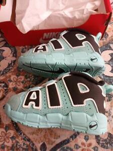 Nike Air More Uptempo TD Light Aqua Black Toddler CK0825-403 Size 6C New in Box