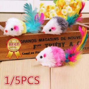 1-5Pcs Plush Toys False Mouse Mice For Pet Cat Kitten Catch Playing Toy Best