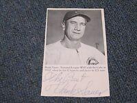 Hank Sauer Autographed Photo Index Card