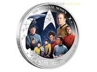 2 $ Dollar Star Trek Enterprise NCC-1701 Crew Tuvalu 2 oz Silber 2016 PP