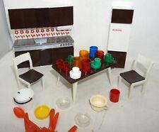 Puppenstubenmöbel KÜCHE Möbel für Puppenstube Puppenhaus + Zubehör DDR Konvolut
