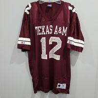 Rare VTG 90s Champion NCAA Texas A&M Aggies 12 Football Jersey Mens 44 L