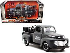 1948 Ford F-1 Pickup Truck - 1942 Harley WLA Flathead 1:24 Model Maisto 32185BK*