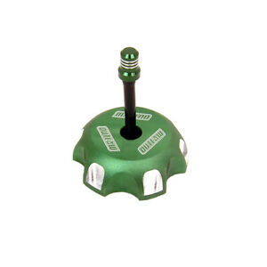 Outlaw 12077 Billet Anodized Gas Fuel Tank Cap With Vent Hose Green KLX110