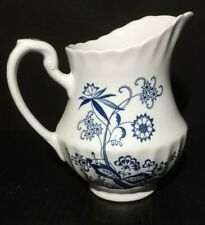 """Vintage J&G Meakin England Classic White Blue Nordic Pitcher 7"""" at Spout"""