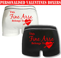 Personalised This Fine Arse Belongs To Name Boxer Valentine's Day Funny Shorts