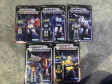 Transformers Super 7 Reaction Figure Lot Optimus Prime Megatron