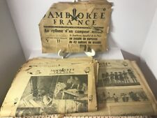1947 Moissan France World JAMBOREE FRANCE Boy Scout Newspaper Special Edition