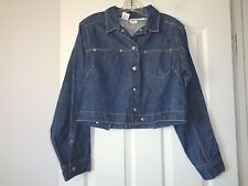 "LEVI'S ENGINEERED SNAP BUTTON SHORT DENIM JACKET LARGE 36"" CHEST XLNT!!"