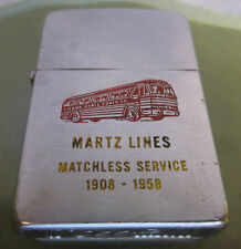 Vintage RARE 1958 BUS COACH LINES ZIPPO LIGHTER NICE ADVERTISEMENT Truck