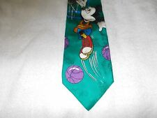 Tie Novelty Cartoon Disney Mickey Mouse Playing Basketball