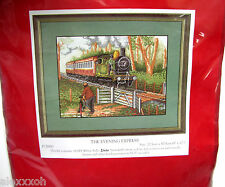 NEW - 1996 ANCHOR COUNTED CROSS STITCH KIT - TRAIN - PCE900 THE EVENING EXPRESS