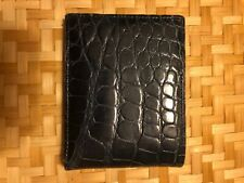 Trafalgar Store Men's Alligator Double Billfold Wallet (blue)