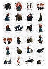 24 Brave Merida Wafer / Rice Paper Cupcake Topper Edible Fairy Cake Toppers