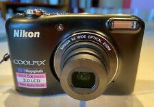 Nikon COOLPIX L28 20.1MP Digital Camera - Blackwith USB Connector Cable & 8 GB