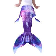 Women Adult Girls Kids Mermaid Tail Swimwear Swimmable Monofin Swimming Costumes