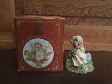 1995 Enesco Priscilla Hillman Little Betty Blue Mouse Tales Figurine with Box