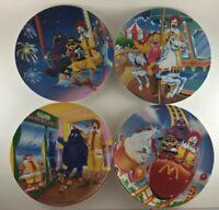 4 McDonalds plates 1993 carnival amusement park Ronald