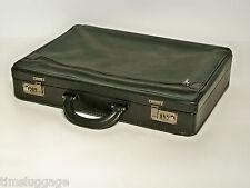 """Tumi Alpha Black Leather Soft Side Briefcase Attache 4"""""""